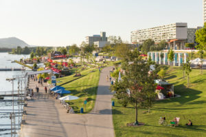 The CopaBeach on the New Danube, leisure area, 22nd district, Donaustadt, Vienna, Austria,