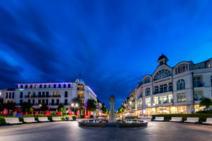 Binz, Mecklenburg-Western Pomerania, Germany, Haupstrasse and turning point