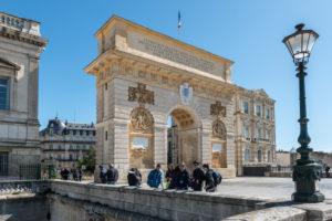 Montpellier, Herault, France, Arc de Triomphe Porte du Peyrou, Languedoc-Roussillon region