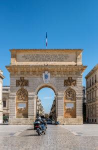 Montpellier, Herault, Frankreich, Triumphbogen Porte du Peyrou, Region Languedoc-Roussillon