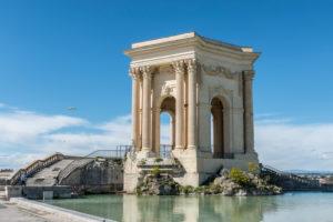 Montpellier, Herault, Frankreich, Wasserturm Château d'Eau am Place Royale du Peyrou in der Region Languedoc-Roussillon