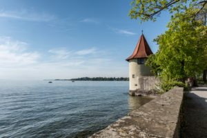 Lindau, Bavaria, Germany, Pulverturm Tower on the island of Lindau