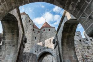 Carcassonne, Aude, Frankreich, La Cite Carcassonne UNESCO Weltkulturerbe im Gebiet Languedoc-Roussillon in Südfrankreich