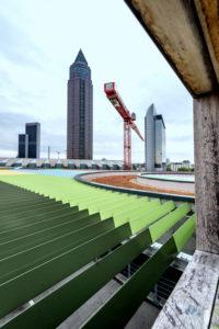 Frankfurt am Main, Hessen, Deutschland, Blick auf den Messeturm, Kastor Turm und das Westend Gate