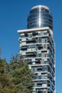 Frankfurt am Main, Hessen, Deutschland, der neue Henninger Turm im Stadtteil Sachsenhausen