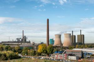 Duisburg, Nordrhein-Westfalen, Deutschland, Gaskraftwerk Duisburg-Huckingen im Stadtteil Hüttenheim