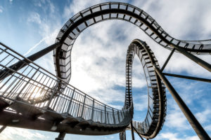 Duisburg, North Rhine-Westphalia, Germany, Landmark Tiger & Turtle - Magic Mountain