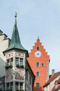 Deutschland, Baden-Württemberg, Bodensee, Meersburg, Gebäude am Marktplatz