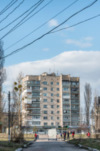 Zhytomyr, Zhytomyr Oblast, Ukraine, estate of prefabricated houses