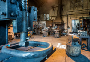 Pernes-les-Fontaines, Vaucluse, Provence-Alpes-Cote d'Azur, France. The blacksmith La Forge