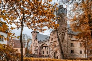 Michelstadt, Steinbach, Odenwald, Hesse, Germany, The castle Fürstenau in the district Steinbach.