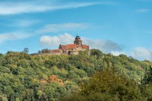 Breuberg, Hesse, Germany, Burg Breuberg in autumn