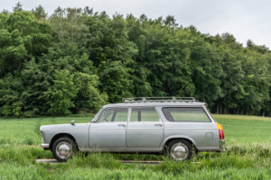 Breuberg, Hessen, Germany. Peugeot 404 station wagon, year of construction 1964, PS 80, displacement 1998, body designed by Pininfarina
