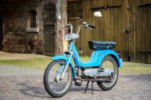 Michelstadt, Hessen, Deutschland. Vespa Boxer 2 Moped von Piaggio & Co, Baujahr 1974, 1,5 PS, 49 ccm.