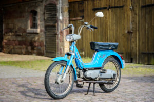 Michelstadt, Hessen, Germany. Vespa Boxer 2 moped by Piaggio & Co, year of construction 1974, 1.5 HP, 49 ccm.
