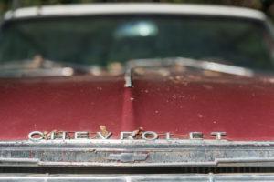 Wrack eines alten Chevrolet, Detail.