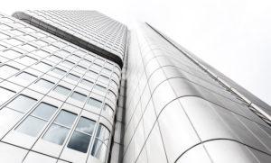 Hochhaus Fassaden, Frankfurt am Main, Hessen, Deutschland, Europa