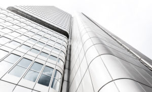 Skyscraper facade, Frankfurt am Main, Hesse, Germany, Europe
