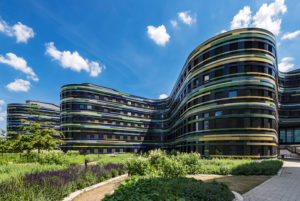 Facade of the Department of Urban Development and Housing, BSW, Wilhelmsburg, Hamburg, Germany