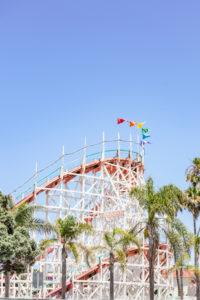 Legendary roller coaster, Belmont Park, San Diego, California, USA