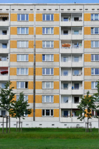 Plattenbau,social housing,Dresden,Free State of Saxony,Germany,Europe