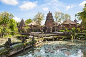 Pura Taman Saraswati, Lotus Water Palace, Ubud, Bali