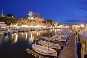 Old port with town hall, Ciutadella, Menorca