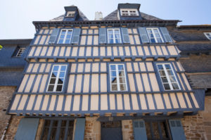 Half-timbered in the old town, Quimper France, France