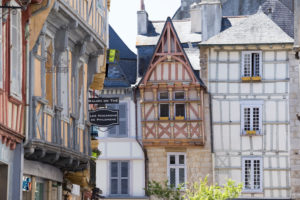 Half-timbering in Rue Kereon, Quimper France, France