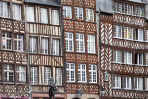 Half-timbered house, old town, Rennes France, France