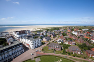 View of North Beach from the new lighthouse, Borkum, East Frisian Islands