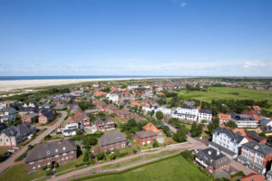 View from new lighthouse to the east, Borkum, East Frisian Islands