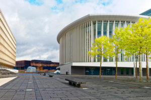 Luxembourg, philharmonic concert hall, Place de l'Europe, European district, Luxembourg City,