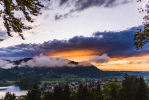 Sunset after rain at Schliersee, Bavarian Alps