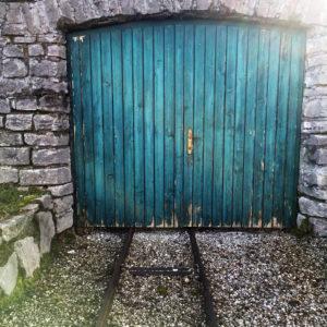 Garage door on a boathouse