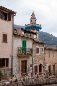Houses, steeple, Valldemossa, Spain, the Balearic Islands, Majorca,