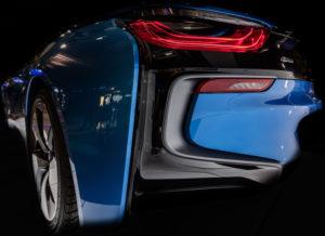 BMW I8, hybrid vehicle, rear light, detail,