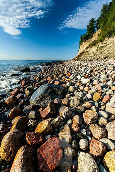 Europe, Poland, Pomerania, Gdynia Orlowo, beach, pebbles