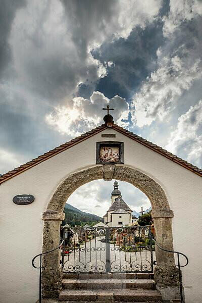 Mountaineers' cemetery in Ramsau, Bavaria, Germany, Berchtesgadener Land,