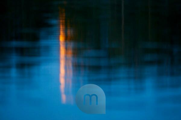 Spiegelung, Mond, Wasser