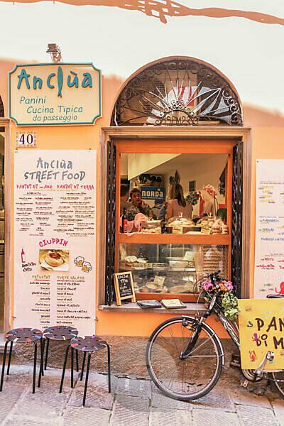Lebensmittelgeschäft, Portovenere, Bezirk La Spezia, Ligurien, Italien
