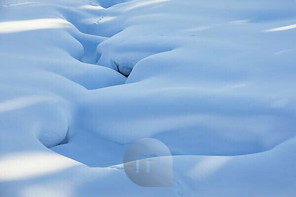 Finnland, Lappland, Winter, Schneedecke, Detail