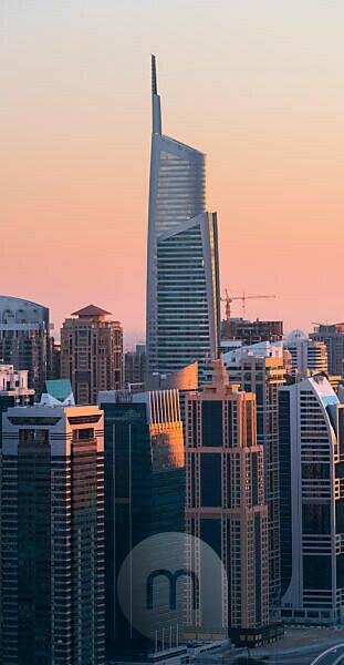 Jumeirah Lake Towers from the Dubai Marina, Almas Tower, Dubai, United Arab Emirates
