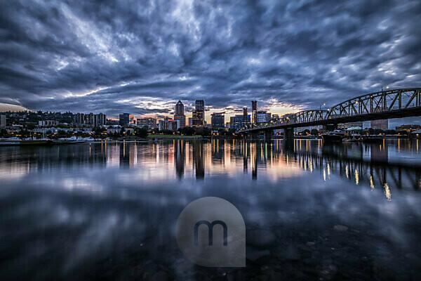 USA, Oregon, Portland, Skyline
