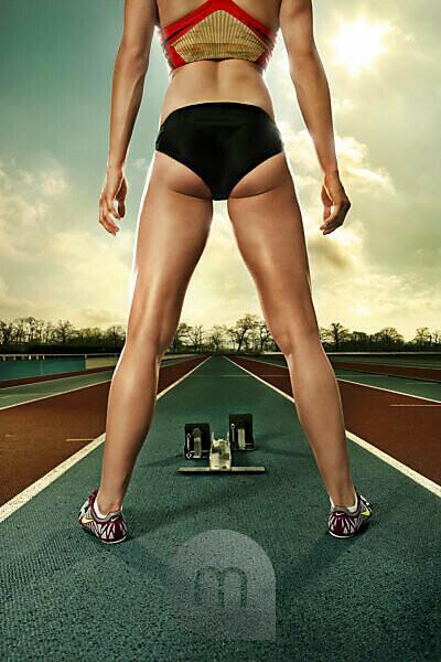 Verena Sailer, sprinter, track and field athlete, 100 m runner,