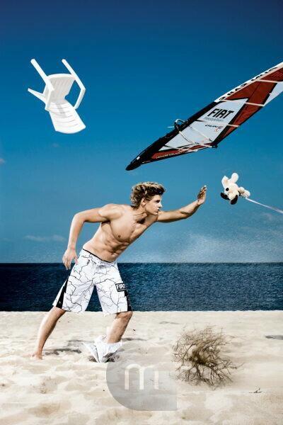 Germany, Sylt, Florian Jung, wind surfer, storm,