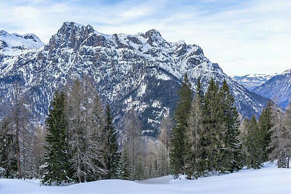Europa, Österreich, Berchtesgadener Alpen, Salzburg, Werfen, Ostpreussenhütte, Blick auf das Hagengebirge in den Berchtesgadener Alpen