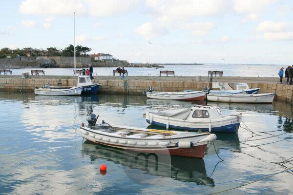 Dún Laoghaire port, moored boats at the port