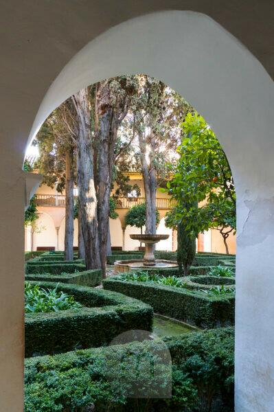 Spanien, Granada, Alhambra, Palacios Nazaries, Patio de Lindaraja, Garten