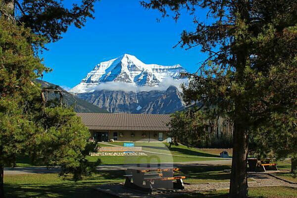 Aussicht auf Mount Edith Cavell im Jasper Nationalpark von Tourismuszentrale im Herbst